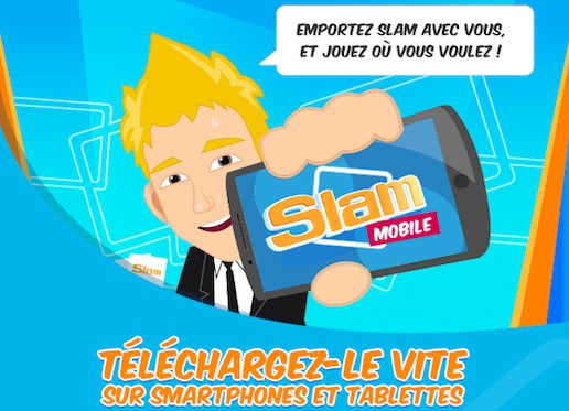 L'application Slam disponible sur mobiles et tablettes !