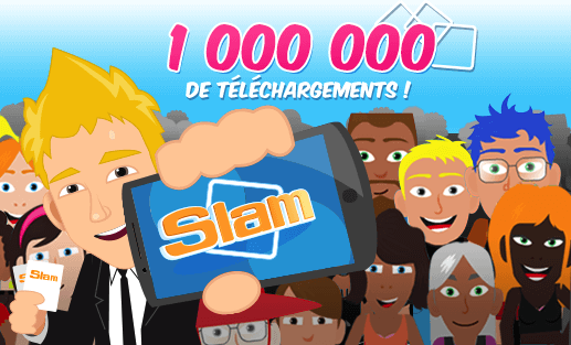 Plus d'un million de téléchargements pour l'application SLAM !